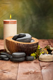 Spa supplies - basalt stones Stock Image