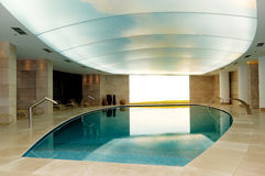 Spa swimming pool at the luxury hotel Royalty Free Stock Image