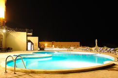 SPA swimming pool in night illumination Stock Photography