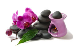 Spa symbols. Old traditions of spa massage Stock Image