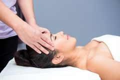 Spa and Thai massage. Beautiful woman relaxing and healthy of aromatherapy Royalty Free Stock Photos
