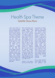 Spa Theme. Page layout for a Health Spa, or any sort of similar activities Stock Photo