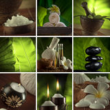 Spa theme mix. Spa theme collage composed of a few images Stock Photos