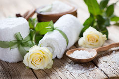 Spa theme object of roses Stock Photo