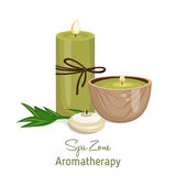 Spa theme object on white background. Royalty Free Stock Photo