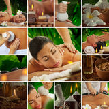 Spa collage. Spa theme  photo collage composed of different images Royalty Free Stock Photography