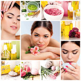 Spa theme photo collage composed of different images Stock Photo