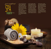 Spa theme with sunflower Stock Images