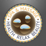 SPA theme vector illustration with drops. Stock Images