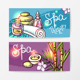 Spa therapy illustrations Stock Photography