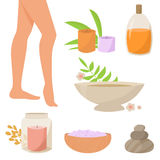Spa therapy for legs Royalty Free Stock Photography