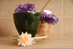 Flowers in bowl Stock Photos