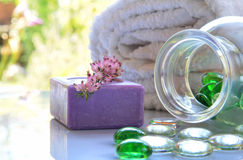 Spa toiletries Stock Images