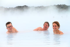 Spa tourists Iceland Stock Image