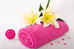 Spa towel Royalty Free Stock Photography