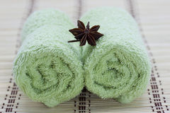 Spa, towel, star anis Royalty Free Stock Images