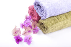 Spa towels Royalty Free Stock Photos