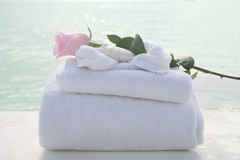 Spa towels Royalty Free Stock Photo
