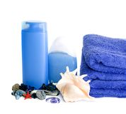 SPA with towels royalty free stock photos