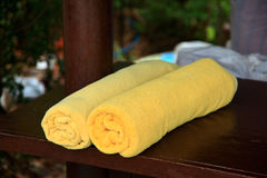 Spa towels Stock Photo