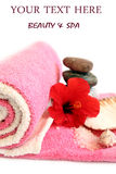 Spa towels Devices body Stock Photos