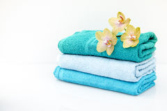 SPA towels in a set with accessories for the bath Stock Photography