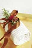 SPA towels wellness Stock Photo