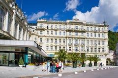 Spa town Karlovy Vary, Czech republic, Europe Stock Photo