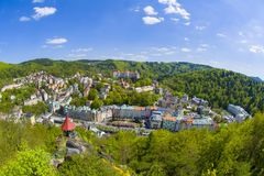 Spa town Karlovy Vary - Czech Republic stock images