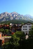 Spa town Leukerbad Stock Photography