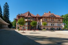 Spa town of Luhacovice. Royalty Free Stock Photos