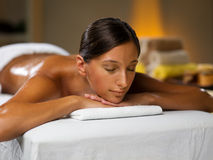 Spa treatment. Young woman is on spa treatment Stock Images