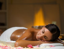 Spa treatment. Young woman is on spa treatment Royalty Free Stock Image
