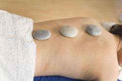 Spa treatment. Woman resting and enjoying a spa treatment Royalty Free Stock Photos