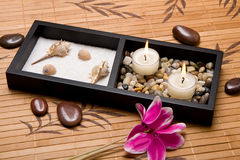 Traditional relaxation spa composition Stock Image