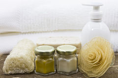 Spa treatment accessories Royalty Free Stock Image
