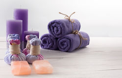 Spa treatment and aromatherapy background Stock Photo