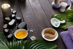 Spa treatment, aromatherapy background. Details and accessories Royalty Free Stock Image