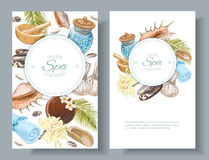 Spa treatment banners Royalty Free Stock Photos