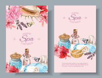 Spa treatment banners Stock Photo