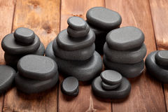 Spa treatment - basalt massage stones Royalty Free Stock Image