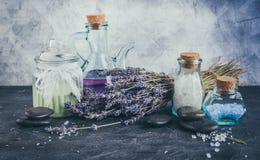 Spa treatment - body care. Lavender aromatherapy Royalty Free Stock Photo