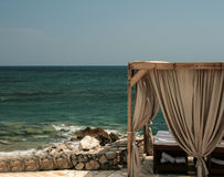 Spa treatment on the cretan beach Royalty Free Stock Image