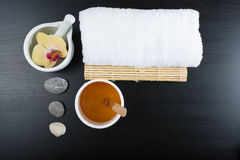Spa treatment essentials Royalty Free Stock Images