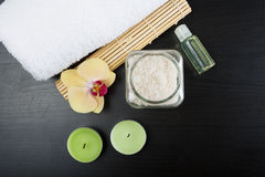 Spa treatment essentials Stock Images