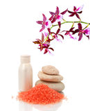 Spa treatment and flower Stock Photography