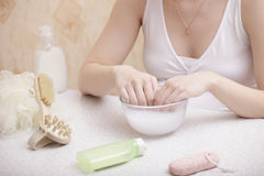 Spa treatment for hand Stock Photography