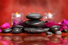 Spa treatment - massage stones Royalty Free Stock Images