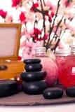 Spa treatment - massage stones Stock Photos