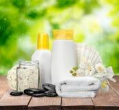 Spa Treatment. Merchandise Health Spa Cosmetics Beauty Wellbeing Bath Salt Royalty Free Stock Photo